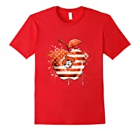 Oklahoma State Cow Nation Flag T Shirt Red
