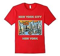 Lotta Shirts New York City Ny Postcard Greetings T Shirt Red