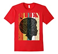 African American Queen T Shirt Black History Urban Soul Tees Red