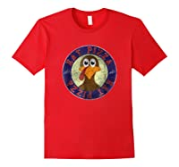 Cool Turkey Eat Pizza Funny Thanksgiving Day T-shirt Red