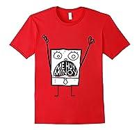 Spongebob Squarepants Doodlebob Me Hoy Minoy Mouth T-shirt Red