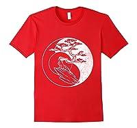 Spirit Soul Yin Yang Bonsai Tree Meditation Shirts Red
