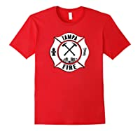 Tampa Fire Rescue Departt Florida Firefighters Uniform Shirts Red