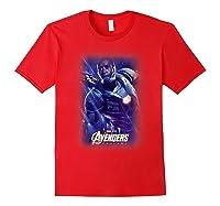 Marvel Avengers Endgame War Machine Galactic Poster T-shirt Red