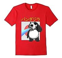 Japanese Vintage Panda Bear Retro Halloween Costume Shirts Red