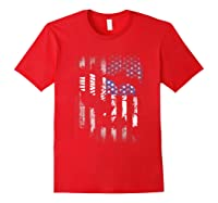 American Flag Eagle For Proud Americans On 4th July Shirts Red