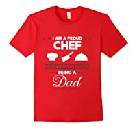 Chef Cooking Funny Culinary Chefs Dad Father S Day Gifts T Shirt Red