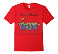 Disney Pixar Toy Story Pizza Planet Aliens T-shirt Red