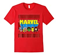 Avengers Classic Ugly Christmas Sweater Shirts Red
