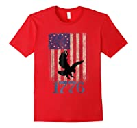 Betsy Ross Shirt 4th Of July American Flag Tshirt 1776 Eagle Red
