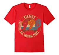 Vintage 21st Birthday Gift Shirt For Classic 1998 T-shirt Red