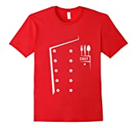 Chef Cooking Funny Culinary Chefs Gifts T Shirt Red