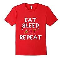Eat Sleep Art Repeat T Shirt Funny Artist Creative Gift T Shirt Red