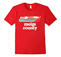 Meigs County Tennessee Outdoors Retro Nature Graphic T Shirt Red