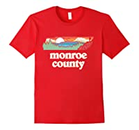 Monroe County Tennessee Outdoors Retro Nature Graphic T Shirt Red