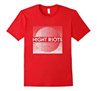 Night Riots Title Shirts Red