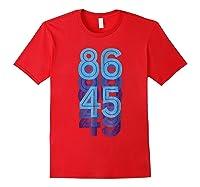 Impeach 45 Retro Anti Trump T Shirt President Patriotic Red