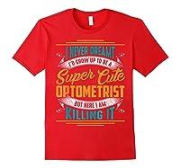 Optometry Optometrist Shirts Red