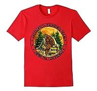 Sasquatch Drinking Team Drink Till You Believe Tshirt Red