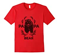Papa Bear Vintage Bear Dad Father S Day Gift T Shirt Red