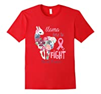 Floral Breast Cancer Awareness Month Here To Fight T Shirt Red
