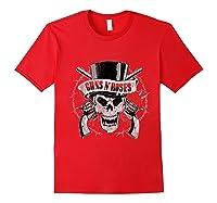 Guns N' Roses Top Hat Skull T-shirt Red