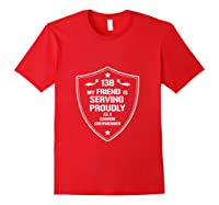 My Friend Is Proud 13b Military Army Cannon Crewmember Shirts Red