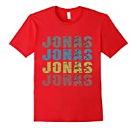 Jonas First Given Name Pride Funny T Shirt Red