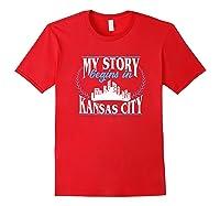 Kansas City Born In Kansas Shirts Red