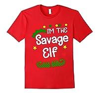 I'm The Sassy Elf Shirt Christmas Family Elf Costume Tee Red