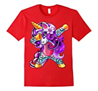 Dabbing Unicorn Day Of The Dead Halloween Girls Gift Shirts Red