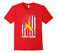 Wing Cow Nation Flag T Shirt Apparel Red