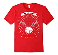 Saint James Buen Camino Way To Santiago De Compostela Gift Shirts Red