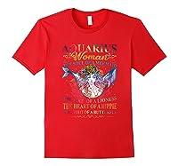Aquarius Woman The Soul Of A Mermaid T Shirt Birthday Tees Red