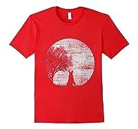 Nature Animal Gift Idea Easter Rabbit Moon Rabbit T Shirt Red