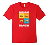 Funny Taco Cat Tacocat Mexican Hooded Shirts Red