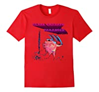 Black Sabbath Paranoid Motion Trails Shirts Red