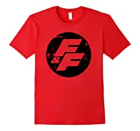 Fast Furious Distressed Circle Logo Pullover Shirts Red