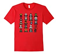 Friends Cartoon Halloween Character Scary Horror Movies Pullover Shirts Red