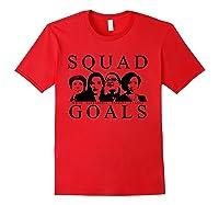 Squad Goals Aoc Rashida Tlaib Ilhan Omar Ayanna Pressley Shirts Red