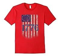 Betsy Ross Shirt 4th Of July American Flag Tshirt 1776 Red