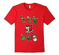 Dabbing Santa Friends Christmas Girls Xmas Gifts Shirts Red