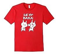 Baka Rabbit Slap Shirt Anime Japanese Gift Funny Pullover Red