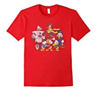 Duck Tales Tank Group Graphic Shirts Red