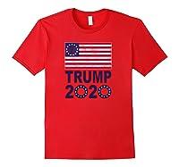 B Ross Flag Trump 2020 Star Design Shirts Red