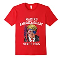 Happy 1965 It's My 54th Years Old Birthday Gift Ideas Tshirt Red