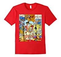 Wizard Of Oz Montage Shirts Red