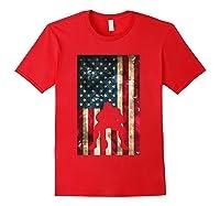Flag Football Pittsburgh Lineman Gift Shirts Red