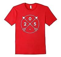 Alabama Area Code Shirt 205 State Pride Souvenir Gift Arrow Red