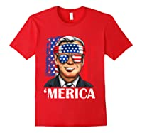 Joe Biden 2020 Merica 4th Of July Independence Day Usa T Shirt Red